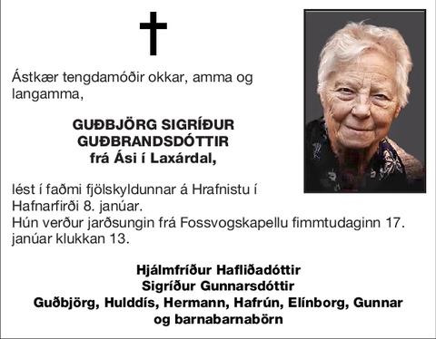 Guðbjörg Sigríður Guðbrandsdóttir