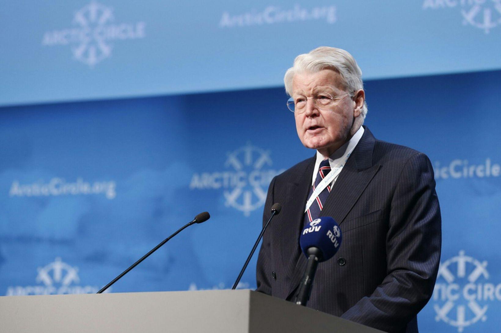 Ólafur Ragnar Grímsson, forseti Íslands, ávarpar gesti Arctic Circle, Hringborð …