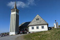 Kirkjan í Mehamn í Finnmörk þar sem minningarstund um Gísla Þór Þórarinsson fór fram 27. …