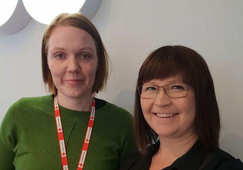 Svala Jóhannesdóttir og Helga Sif Friðjónsdóttir
