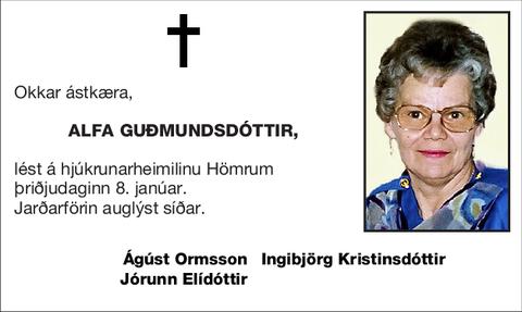 Alfa Guðmundsdóttir,
