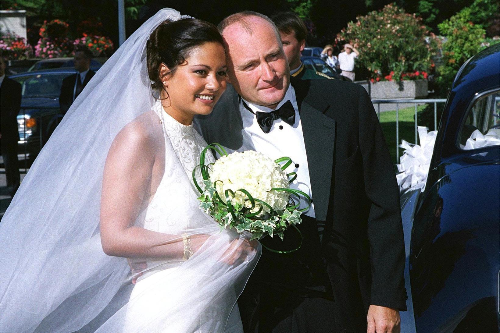 Phil Collins og Orianne Cevey gengu í hjónaband árið 1999.