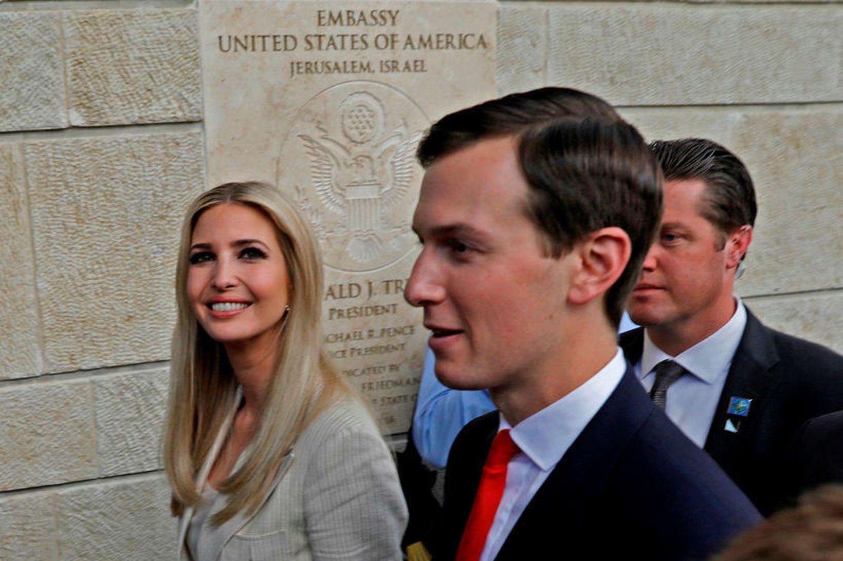 Ivanka Trump og eiginmaður hennar Jared Kushner.