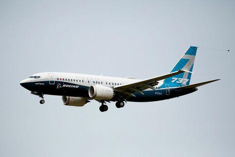 737 MAX-vél Boeing.