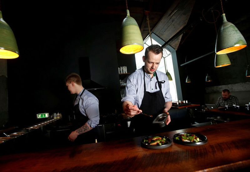 Chefs at Dill, one of Reykjavik's most touted restaurants.