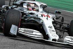 Lewis Hamilton á ferð í Hockenheim í dag.