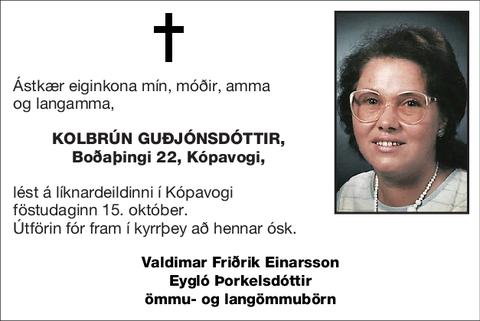 Kolbrún Guðjónsdóttir,