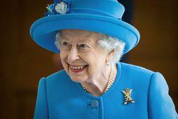 Elísabet II Bretlandsdrottning í heimsókn sinni í Skotlandi á mánudag.