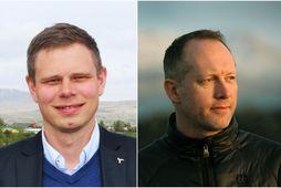 Vilhjálmur Árnason, þingmaður Sjálfstæðisflokksins, og Guðmundur Ingi Guðbrandsson umhverfisráðherra.