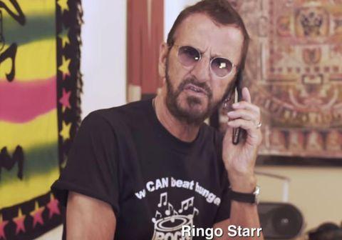 Ringo Starr tekur lagið með tónlistarmönnum út um allan heim.