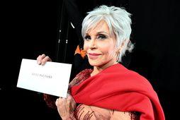 Jane Fonda á Óskarsverðlaunahátíðinni.