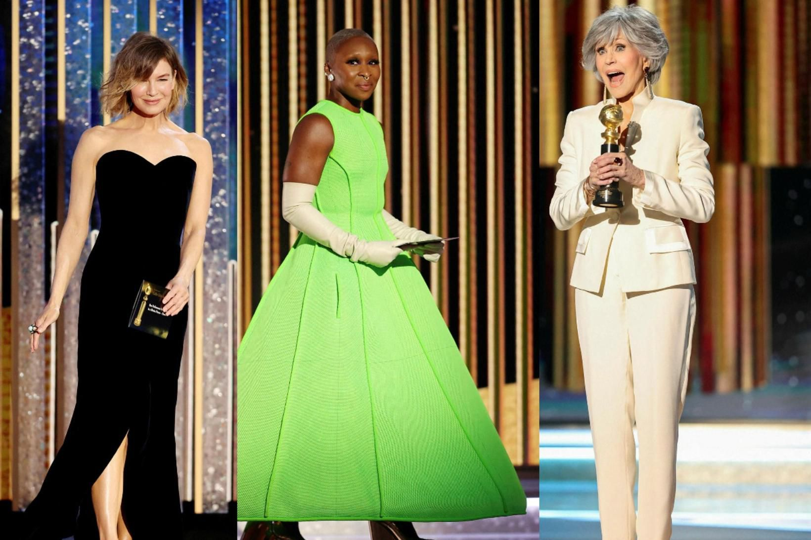 Renee Zellweger, Cynthia Erivo og Jane Fonda voru flottar á …