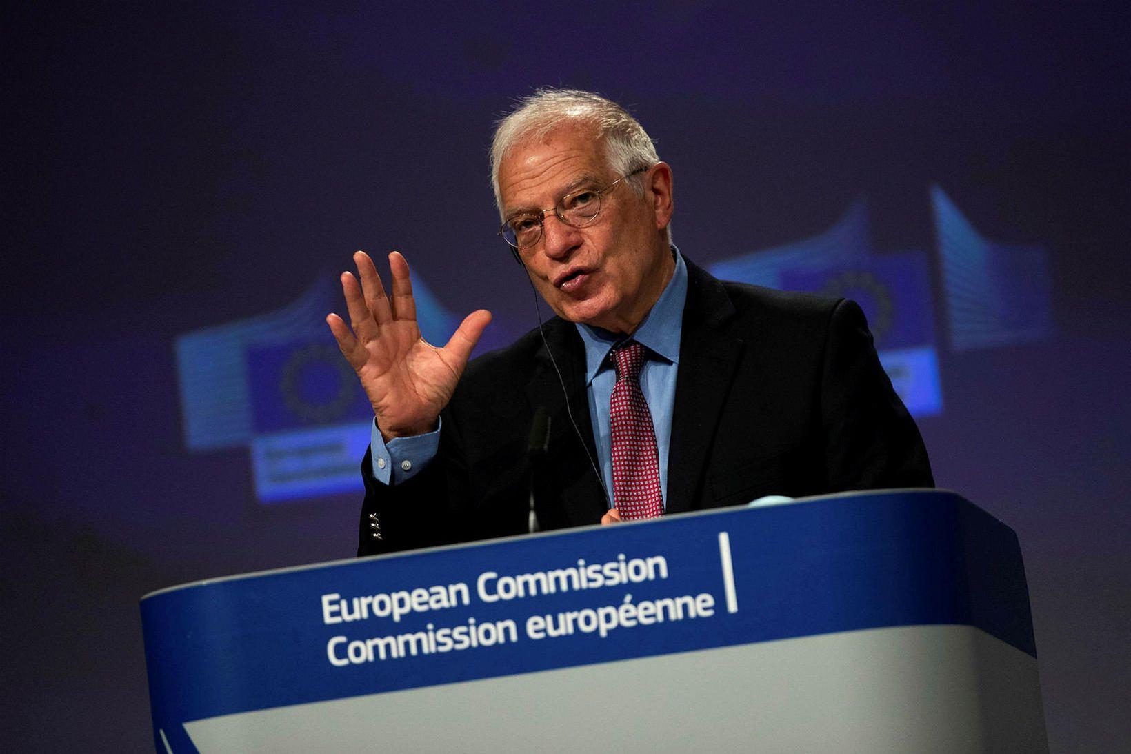 Joseph Borrell, sem fer með utanríkismál í framkvæmdastjórn ESB, greindi …