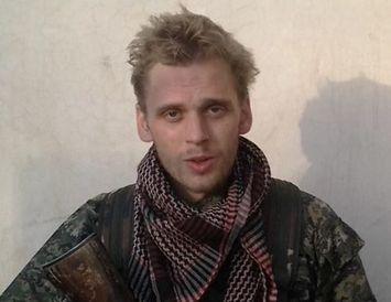 Haukur Hilmarsson. Myndin er tekin úr myndskeiði sem útlendingahersveitin International Freedom Battalion birti.