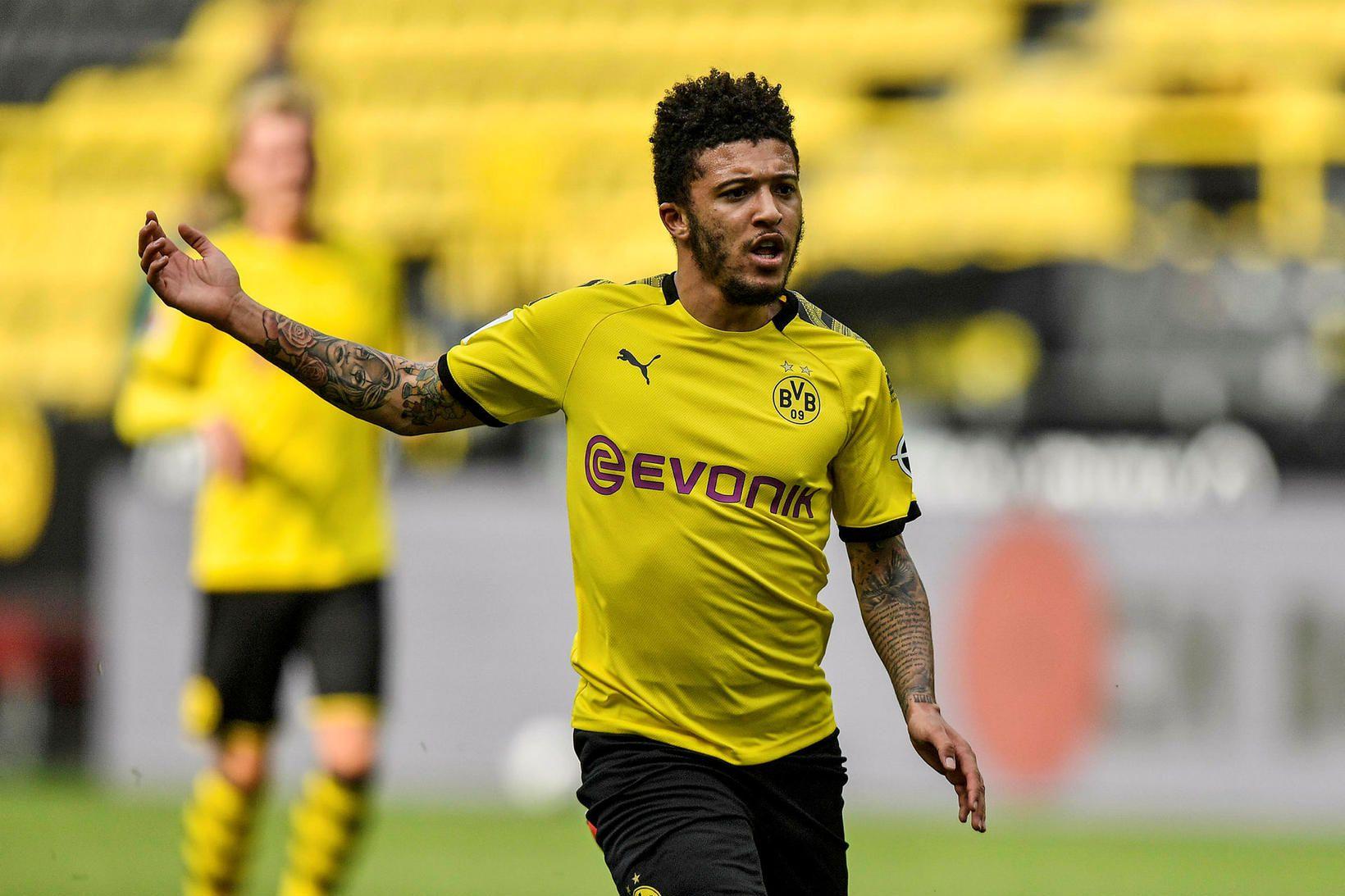 Jadon Sancho hefur leikið með Dortmund í Þýskalandi frá árinu …
