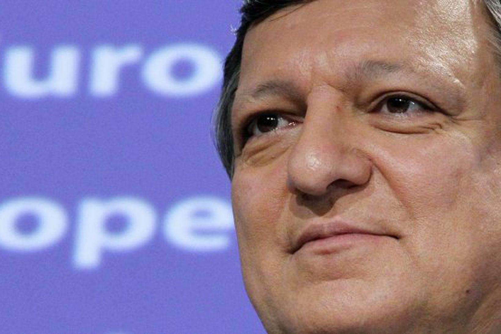 Forseti framkvæmdarstjórnar ESB, Jose Manuel Barroso.