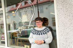 Edda Lilja Guðmundsdóttir er konan á bakvið Garnbúð Eddu.