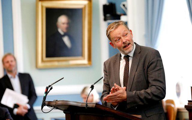 Þorsteinn Víglundsson á Alþingi.