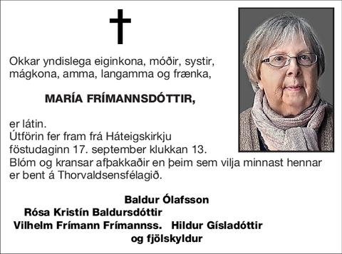 María Frímannsdóttir,