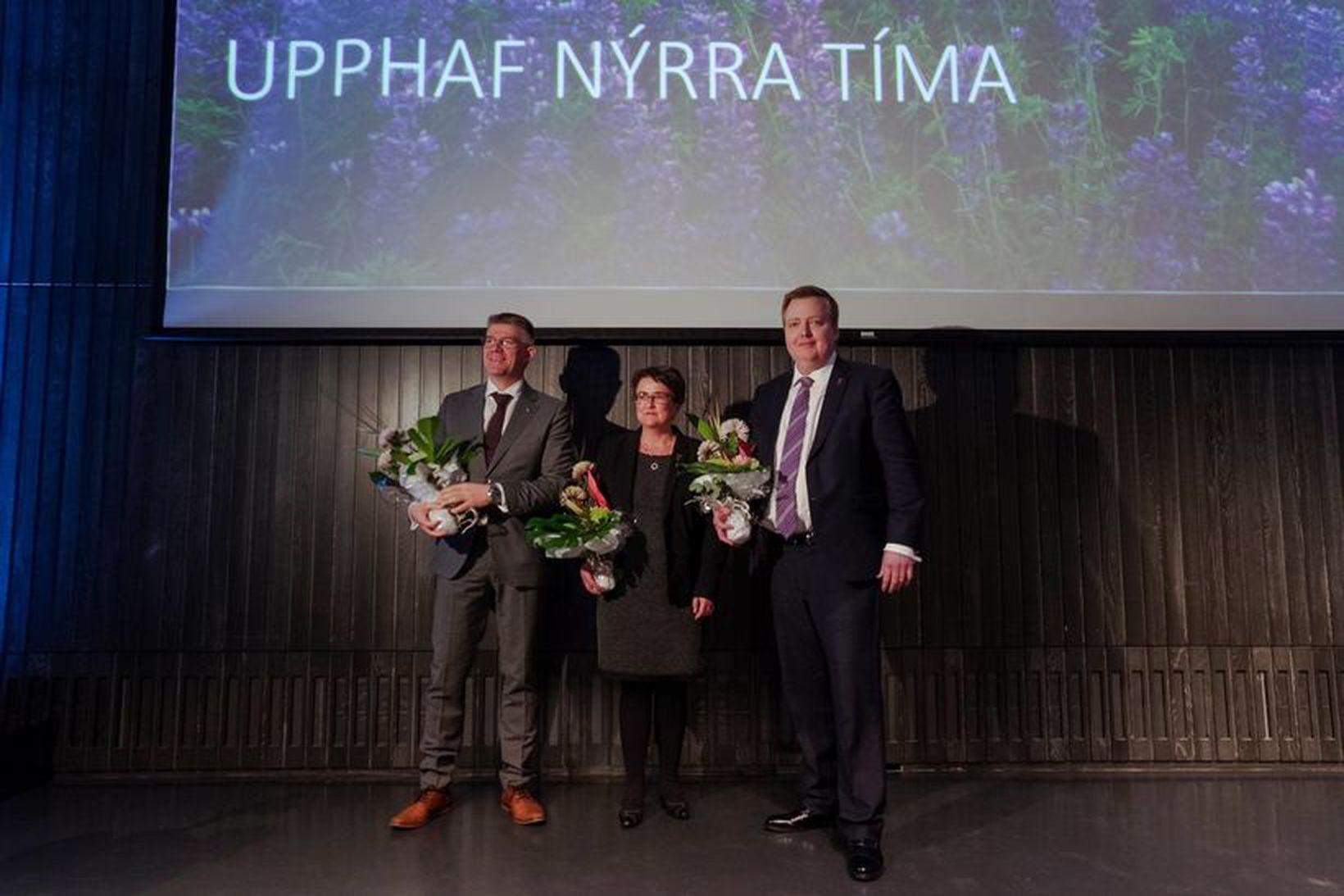 Gunnar Bragi Sveinsson, Anna Kolbrún Árnadóttir og Sigmundur Davíð Gunnlaugsson.