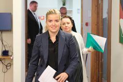 Áslaug Arna Sigurbjörrnsdóttir dómsmálaráðherra kom á fund stjórnskipunar- og eftirlitsnefnd í morgun þar sem hún ...