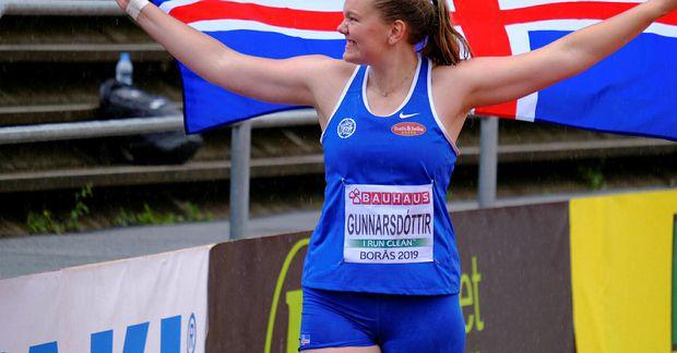Erna Sóley Gunnarsdóttir hefur verið á meðal fremstu kúluvarpara landsins undanfarin ár.