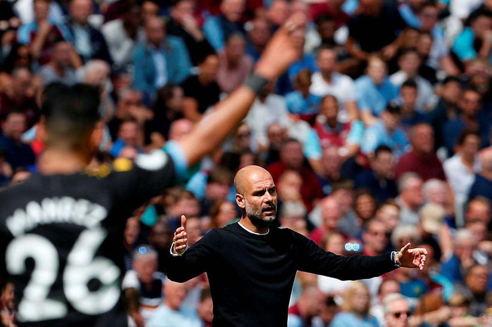 Pep Guardiola er knattspyrnustjóri Manchester City.