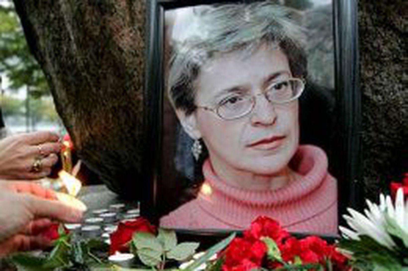 Mynd af Önnu Politkovskayu.
