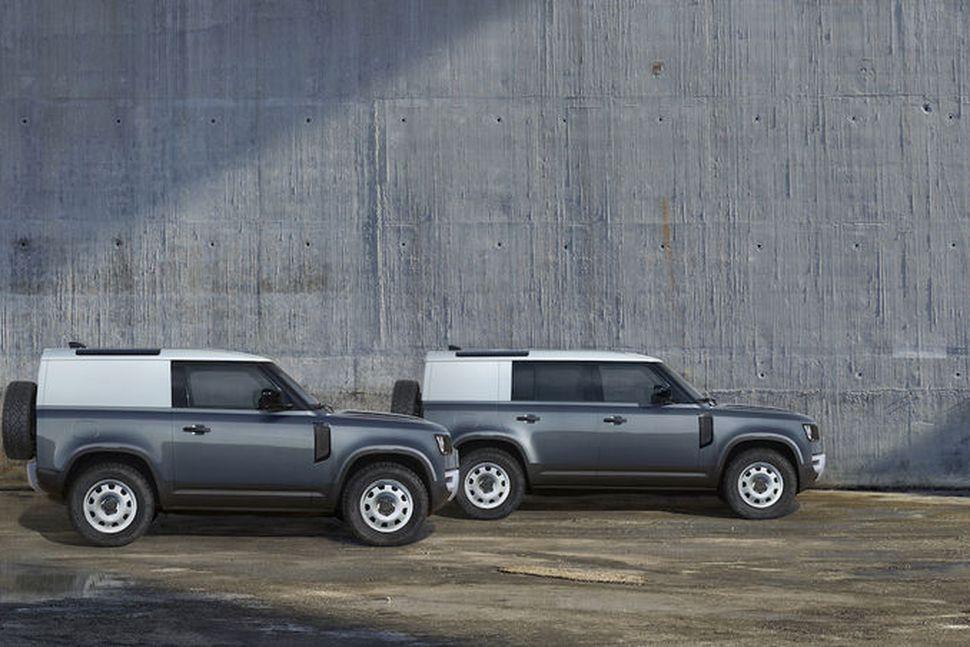 Hinn nýi Land Rover Defendere kemur í tveimur stærðum.
