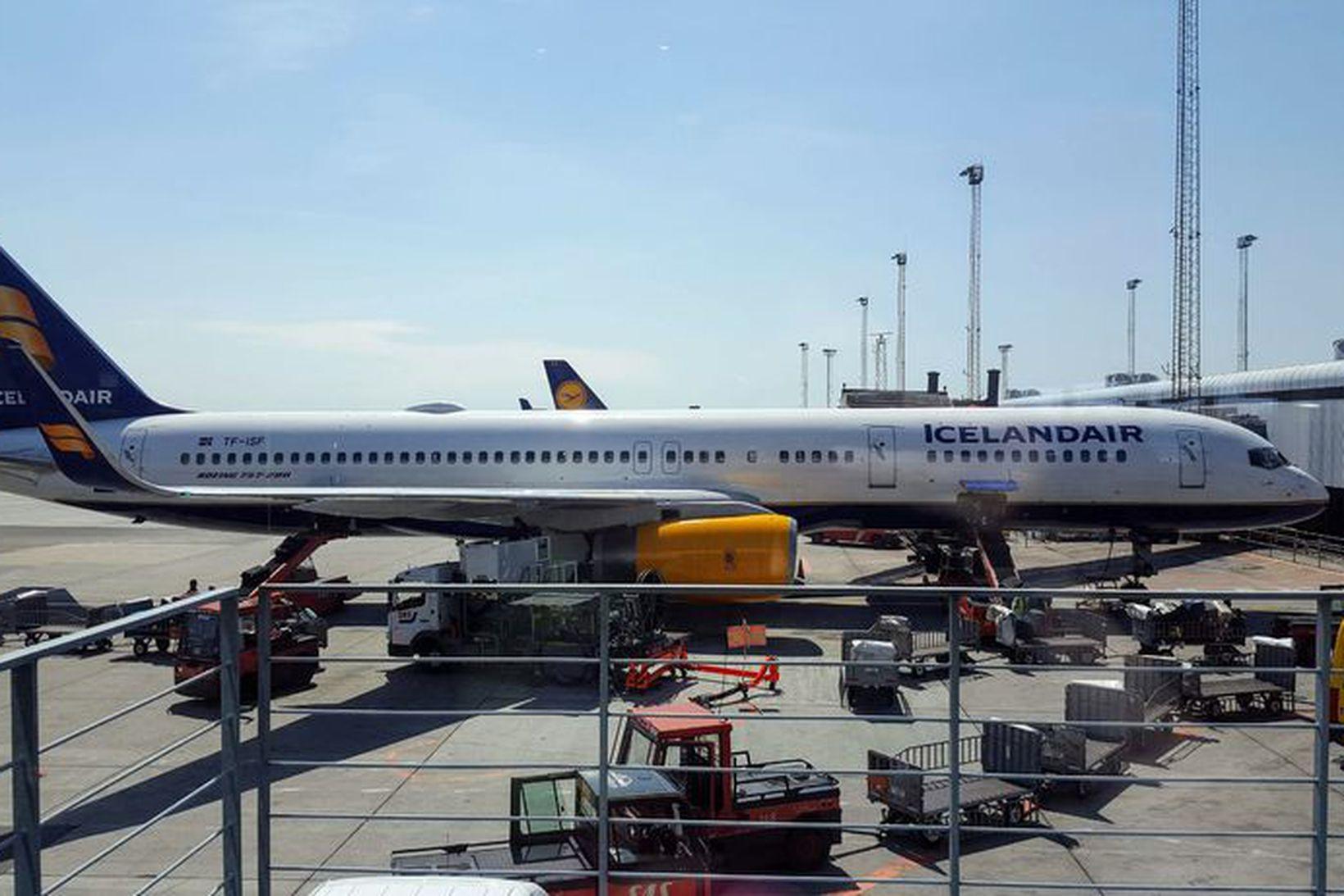 Vél Icelandair á Kastrup-flugvelli í Danmörku. Mynd úr safni.