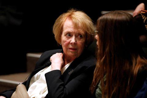 Former President Vigdís Finnborgadóttir, talking to Prime Minister Katrín Jakobsdóttir.