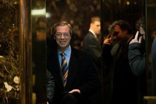 Farage heimsótti forsetann verðandi í Trump Tower 15. desember sl.
