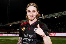 Elías Már Ómarsson skoraði sitt 22. mark í hollensku B-deildinni á tímabilinu í kvöld.