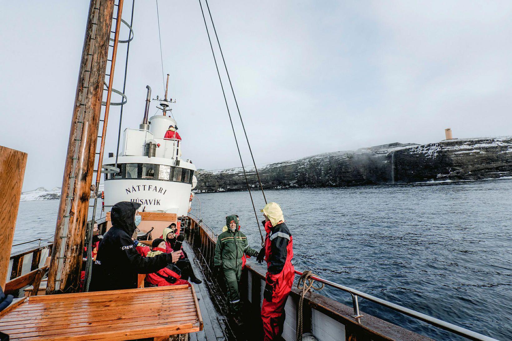 Fyrsta hvalaskoðunarferð ársins hjá Norðursiglingu var farin um helgina.