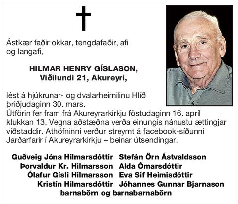 Hilmar Henry Gíslason,