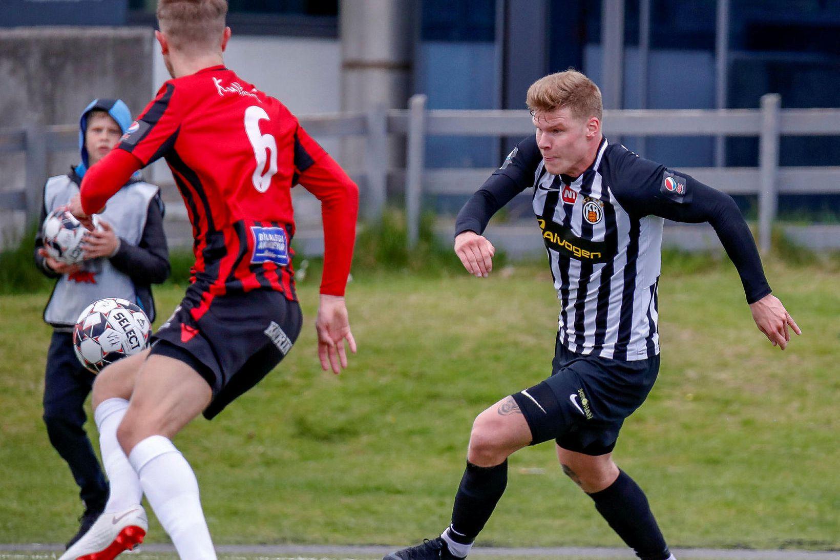 Björgvin Stefánsson hefur glímt við meiðsli undanfarið.