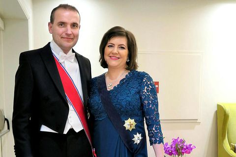 ÍPresident of Iceland, Guðni Th.Jóhannesson and his wife, Canadian born Eliza Reid.