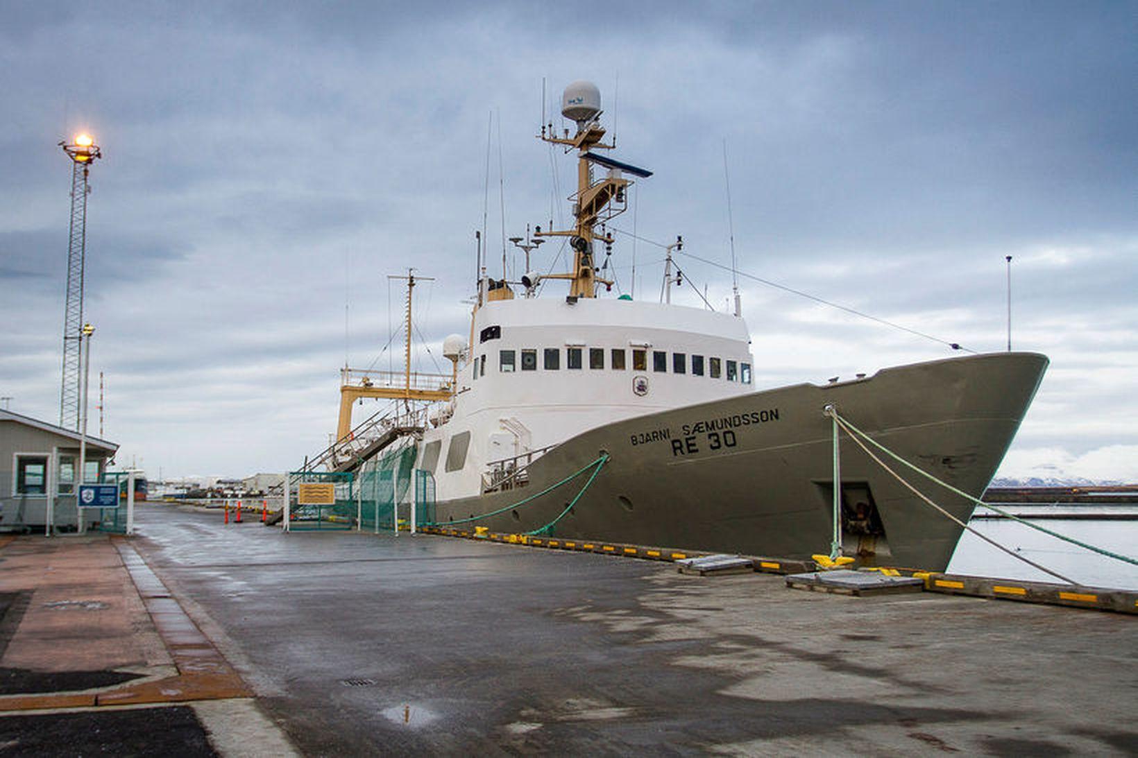 Bjarni Sæmundsson, skip Hafrannsóknastofnunar, sem lagt verður að óbreyttu í …