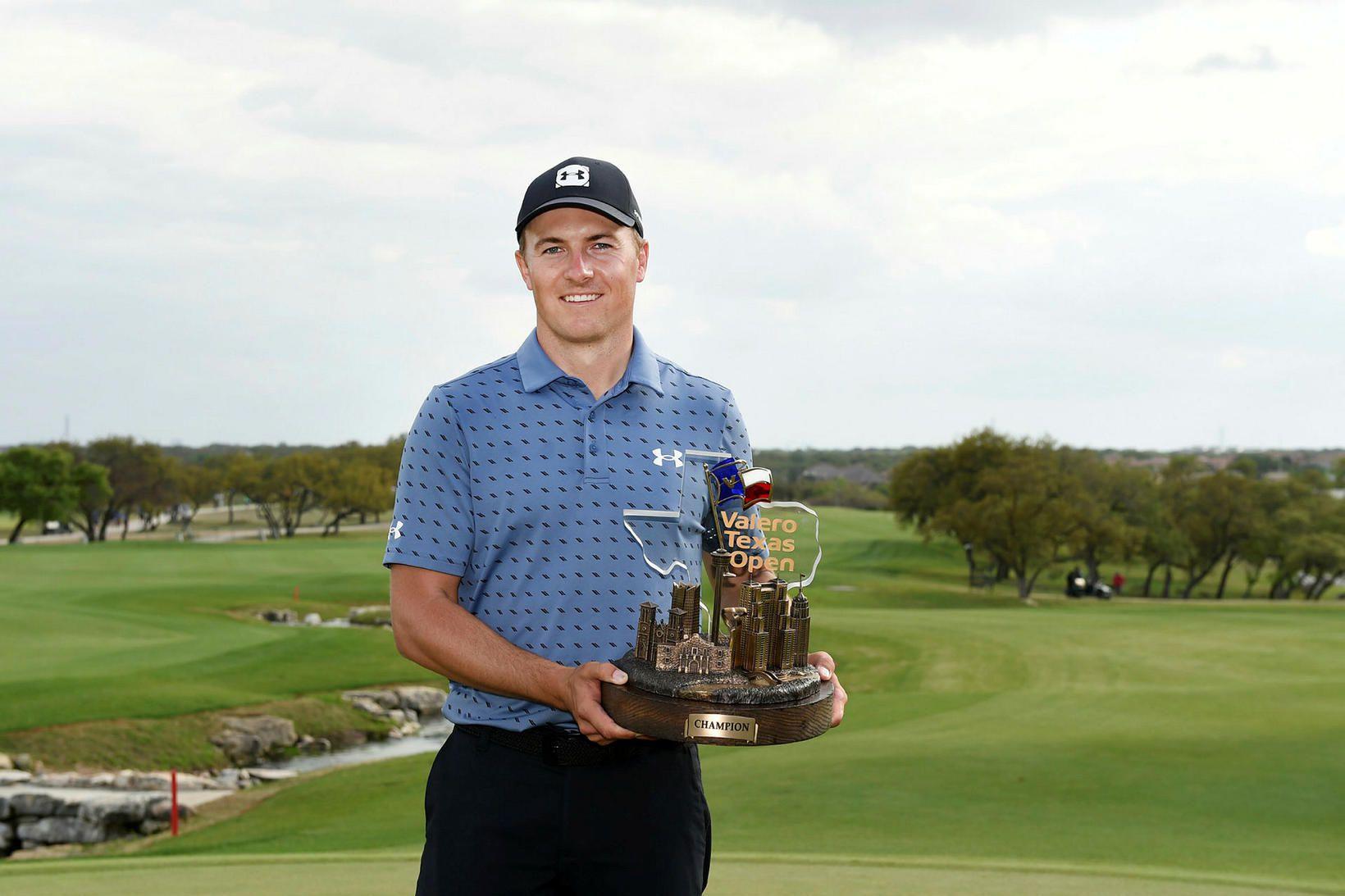 Jordan Spieth sáttur eftir að hafa unnið sinn fyrsta PGA-titil …