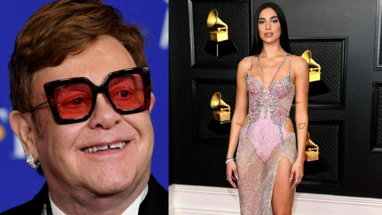 Elton John og Dua Lipa í eina sæng