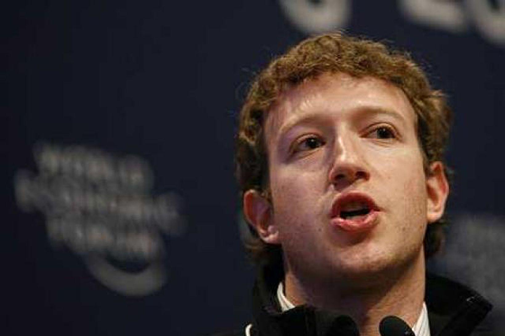 Mark Zuckerberg, stofnandi og framkvæmdastjóri Facebook.