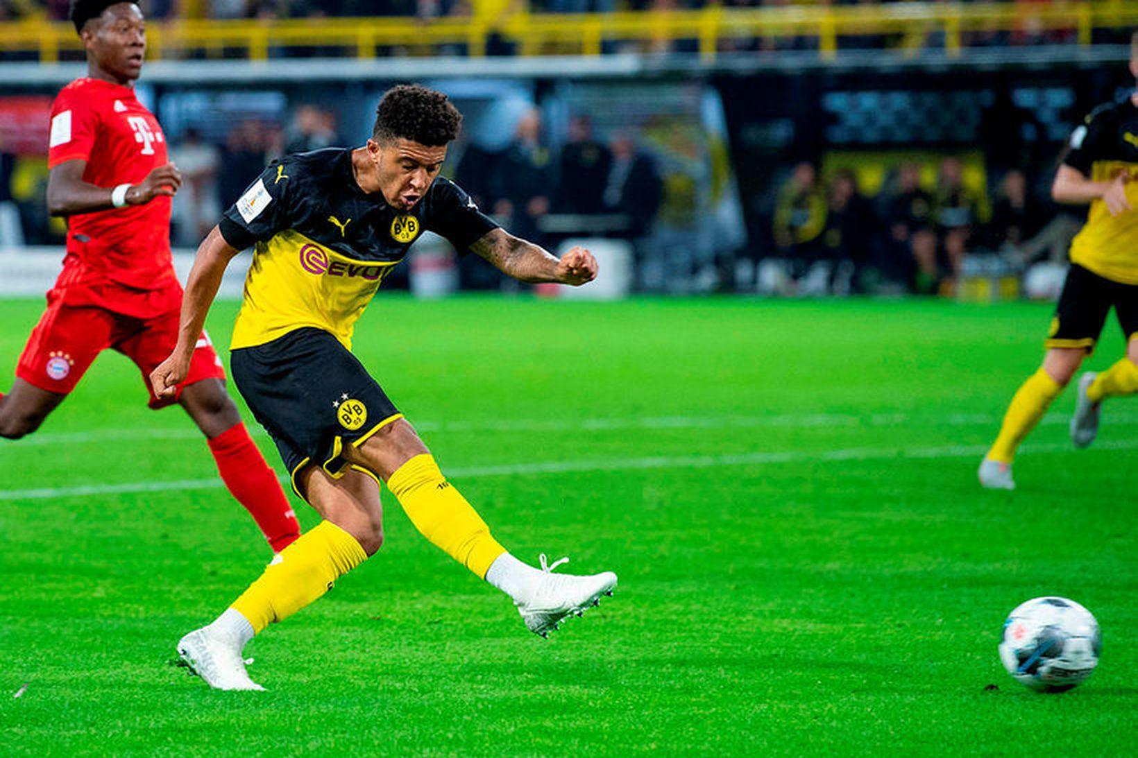 Jadon Sancho hefur slegið í gegn með Borussia Dortmund.