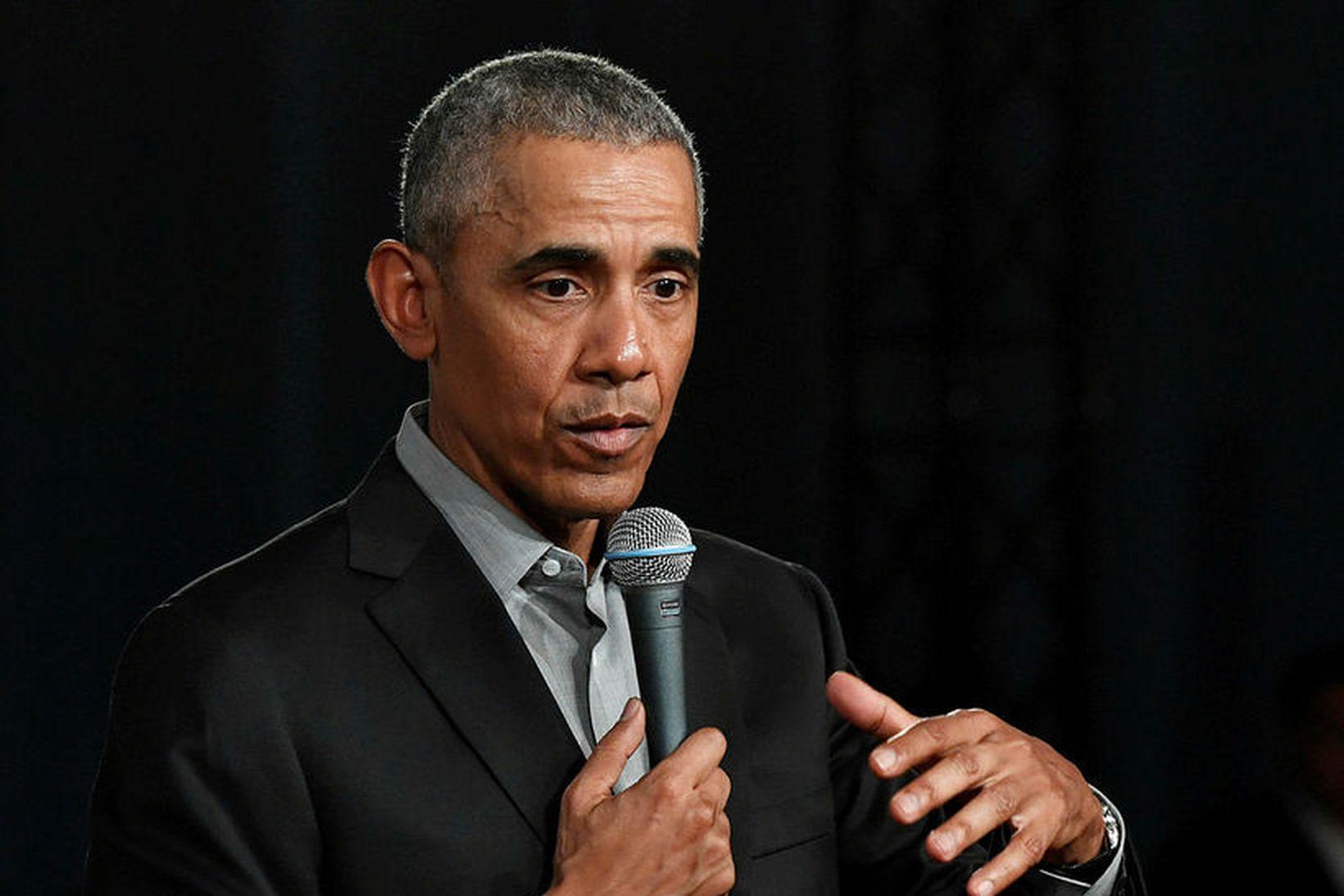Barack Obama tekur til máls á sömu ráðstefnu og Greta …