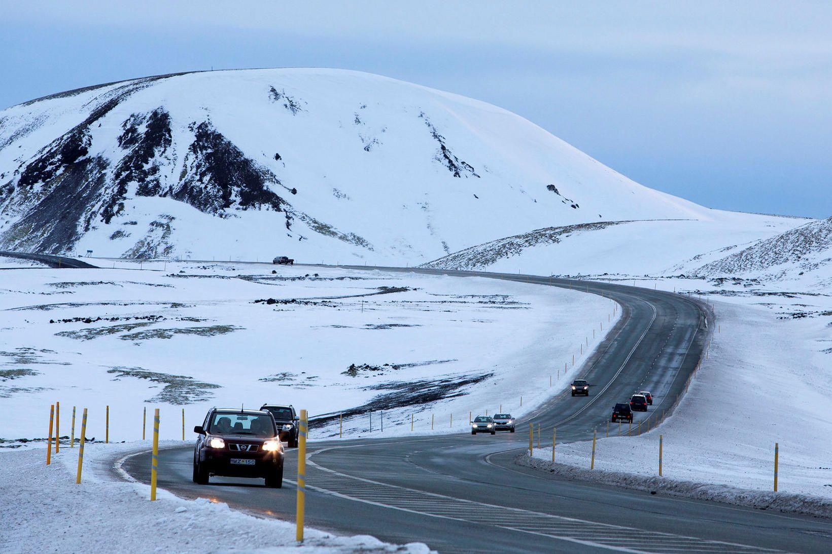 Vegur. Lengd skilavega er 55,6 km.