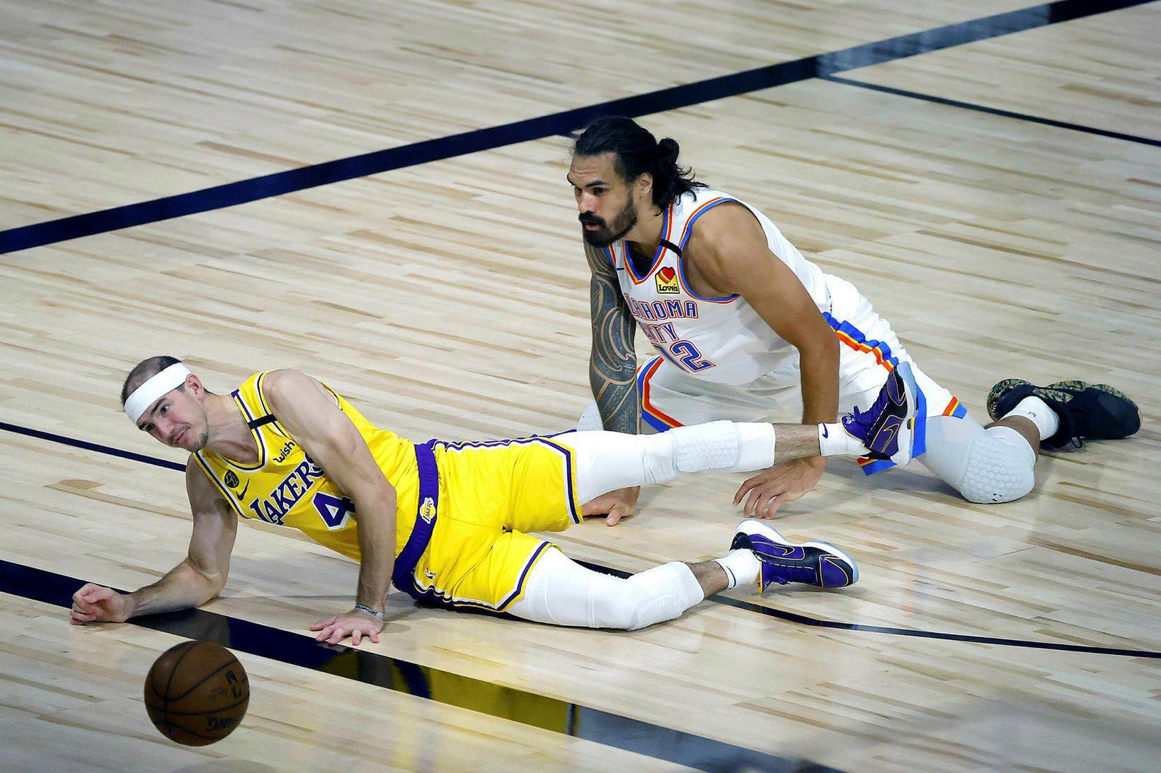 Oklahoma City Thunder vann öruggan sigur á Los Angeles Lakers.