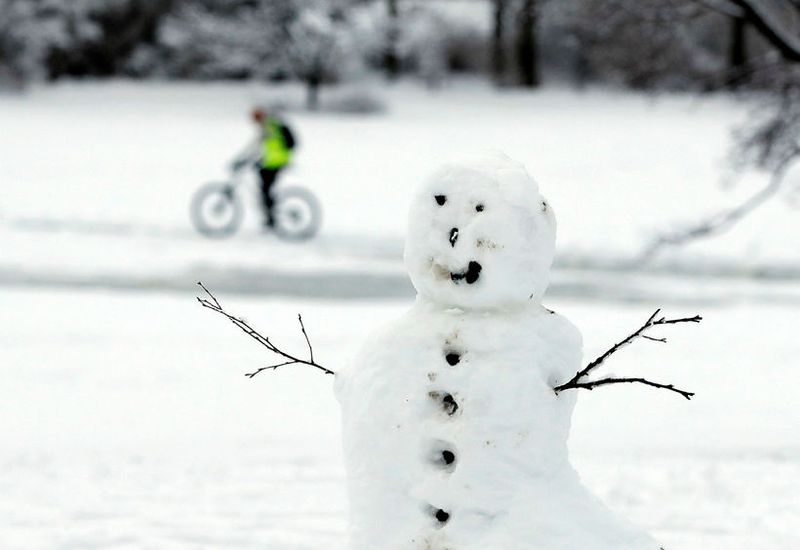 People have been busy making snowmen this weekend.