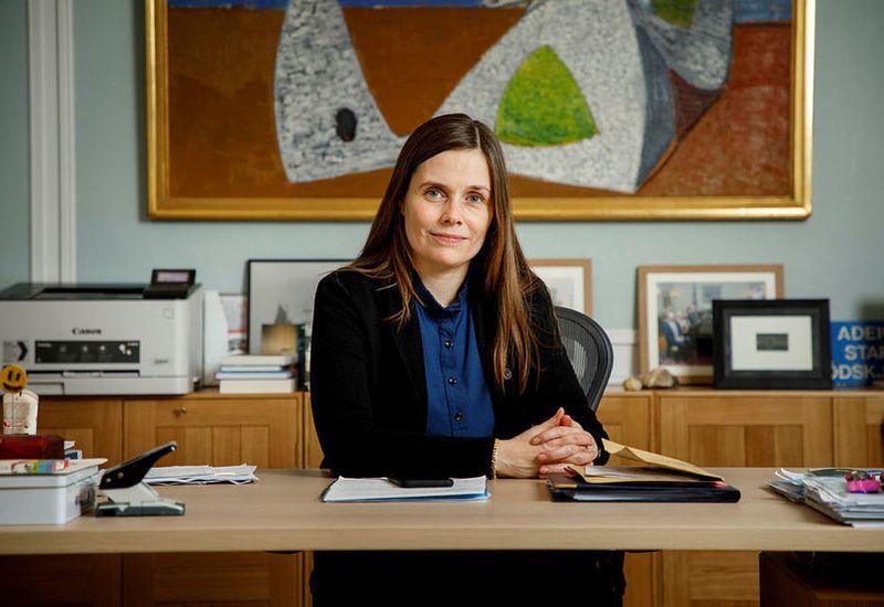 Katrín Jakobsdóttir, prime minister of Iceland.