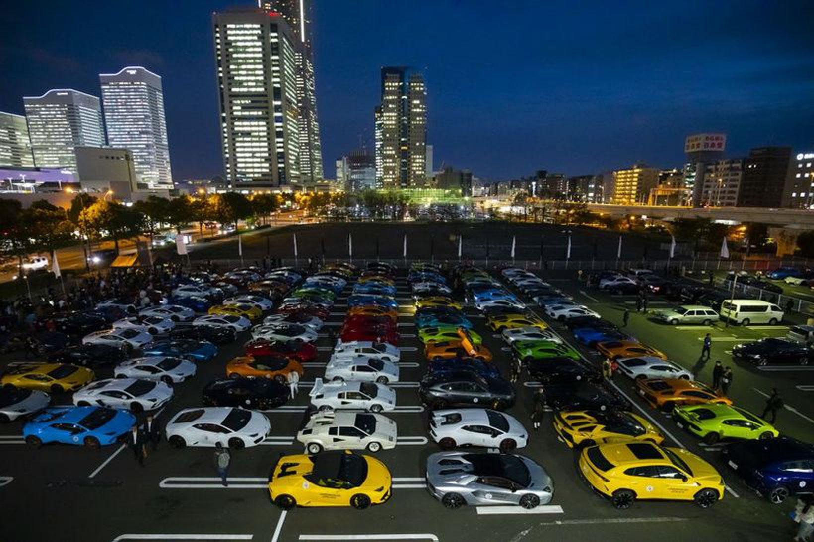 Frá Lamborghini deginum í Yokohama í Japan.