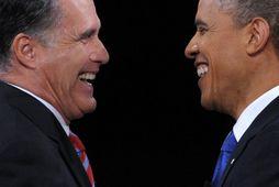 Mitt Romney og Barack Obama.