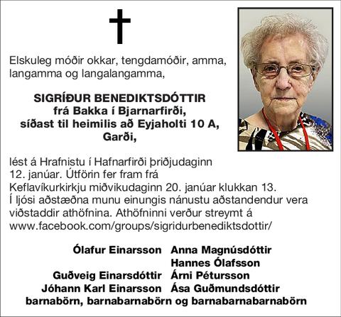 Sigríður Benediktsdóttir